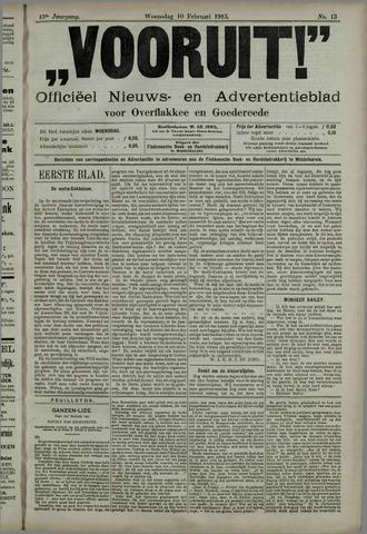 """""""Vooruit!""""Officieel Nieuws- en Advertentieblad voor Overflakkee en Goedereede 1915-02-10"""