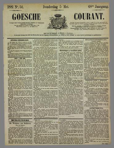 Goessche Courant 1881-05-05