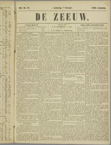 De Zeeuw. Christelijk-historisch nieuwsblad voor Zeeland 1891-02-07