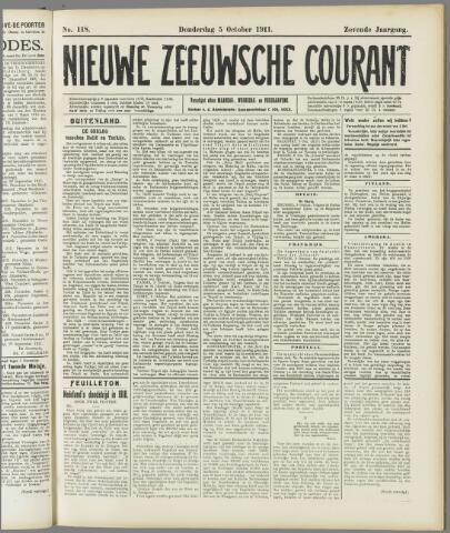 Nieuwe Zeeuwsche Courant 1911-10-05