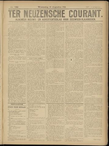 Ter Neuzensche Courant. Algemeen Nieuws- en Advertentieblad voor Zeeuwsch-Vlaanderen / Neuzensche Courant ... (idem) / (Algemeen) nieuws en advertentieblad voor Zeeuwsch-Vlaanderen 1921-08-10