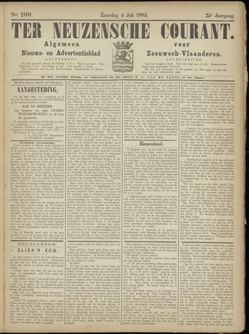 Ter Neuzensche Courant. Algemeen Nieuws- en Advertentieblad voor Zeeuwsch-Vlaanderen / Neuzensche Courant ... (idem) / (Algemeen) nieuws en advertentieblad voor Zeeuwsch-Vlaanderen 1885-07-04
