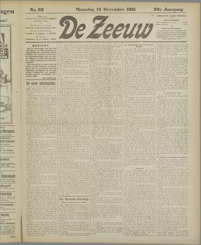 De Zeeuw. Christelijk-historisch nieuwsblad voor Zeeland 1915-12-13