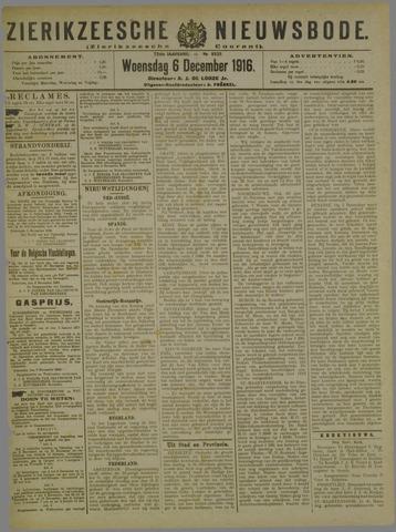 Zierikzeesche Nieuwsbode 1916-12-06