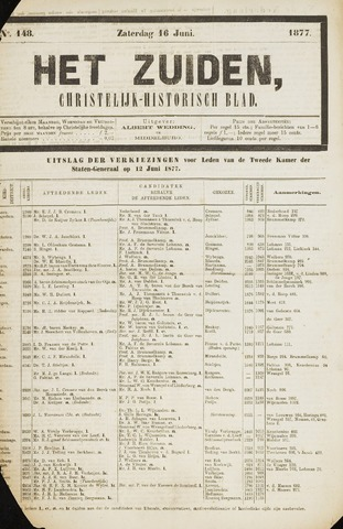 Het Zuiden, Christelijk-historisch blad 1877-06-16