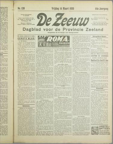De Zeeuw. Christelijk-historisch nieuwsblad voor Zeeland 1930-03-14