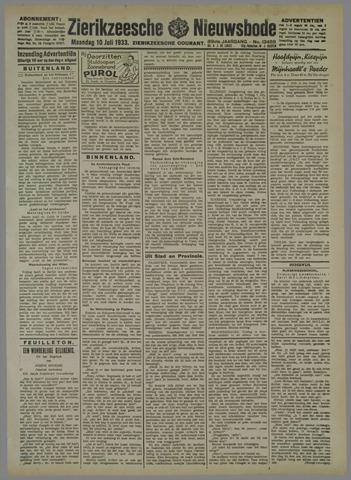 Zierikzeesche Nieuwsbode 1933-07-10