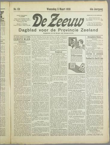 De Zeeuw. Christelijk-historisch nieuwsblad voor Zeeland 1930-03-05