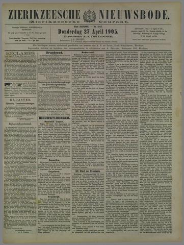 Zierikzeesche Nieuwsbode 1905-04-27