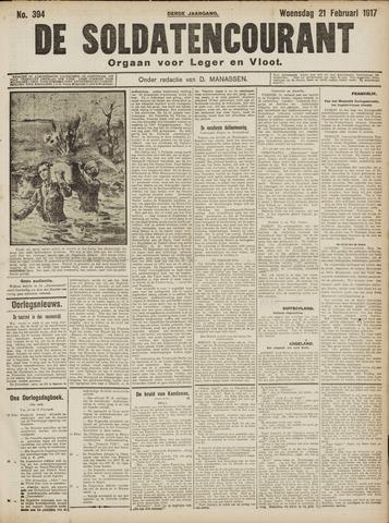 De Soldatencourant. Orgaan voor Leger en Vloot 1917-02-21