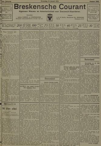 Breskensche Courant 1934-01-24