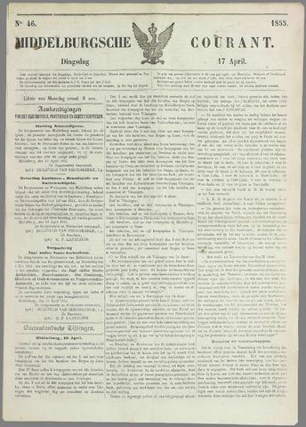 Middelburgsche Courant 1855-04-17
