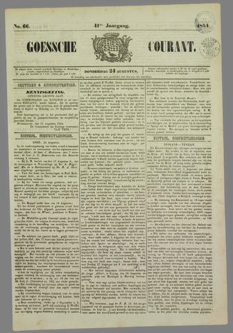 Goessche Courant 1854-08-24