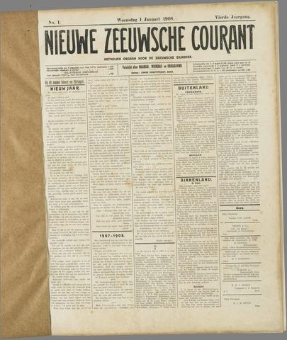Nieuwe Zeeuwsche Courant 1908-01-01