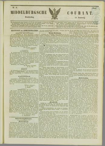 Middelburgsche Courant 1847-01-14