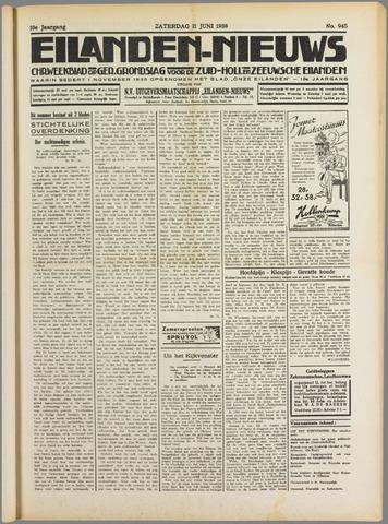Eilanden-nieuws. Christelijk streekblad op gereformeerde grondslag 1938-06-11