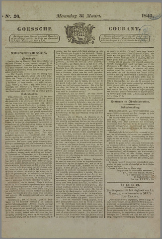 Goessche Courant 1845-03-31