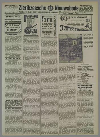 Zierikzeesche Nieuwsbode 1932-02-26