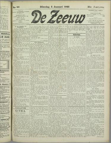 De Zeeuw. Christelijk-historisch nieuwsblad voor Zeeland 1921-01-04