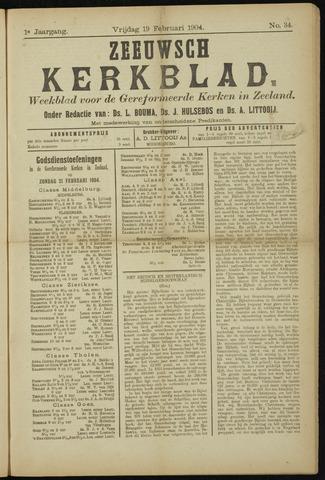 Zeeuwsche kerkbode, weekblad gewijd aan de belangen der gereformeerde kerken/ Zeeuwsch kerkblad 1904-02-19