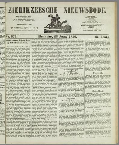 Zierikzeesche Nieuwsbode 1852-06-28
