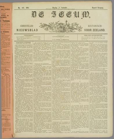 De Zeeuw. Christelijk-historisch nieuwsblad voor Zeeland 1895-09-03