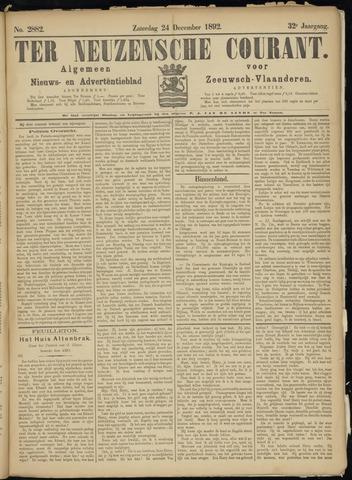 Ter Neuzensche Courant. Algemeen Nieuws- en Advertentieblad voor Zeeuwsch-Vlaanderen / Neuzensche Courant ... (idem) / (Algemeen) nieuws en advertentieblad voor Zeeuwsch-Vlaanderen 1892-12-24