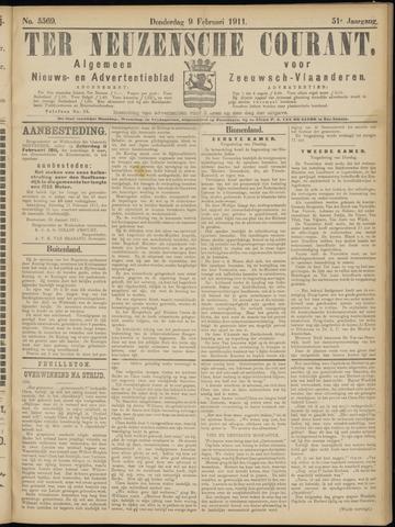 Ter Neuzensche Courant. Algemeen Nieuws- en Advertentieblad voor Zeeuwsch-Vlaanderen / Neuzensche Courant ... (idem) / (Algemeen) nieuws en advertentieblad voor Zeeuwsch-Vlaanderen 1911-02-09