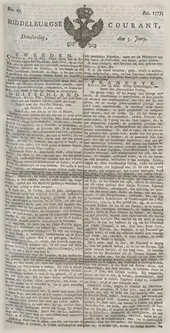 Middelburgsche Courant 1777-06-05