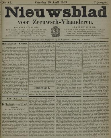 Nieuwsblad voor Zeeuwsch-Vlaanderen 1893-04-29