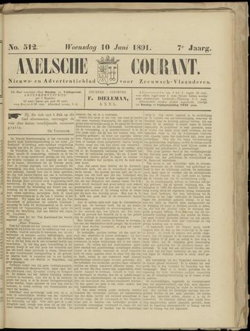 Axelsche Courant 1891-06-10
