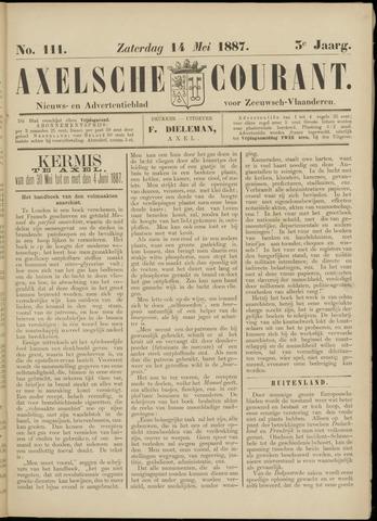 Axelsche Courant 1887-05-14
