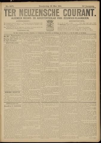 Ter Neuzensche Courant. Algemeen Nieuws- en Advertentieblad voor Zeeuwsch-Vlaanderen / Neuzensche Courant ... (idem) / (Algemeen) nieuws en advertentieblad voor Zeeuwsch-Vlaanderen 1914-05-28