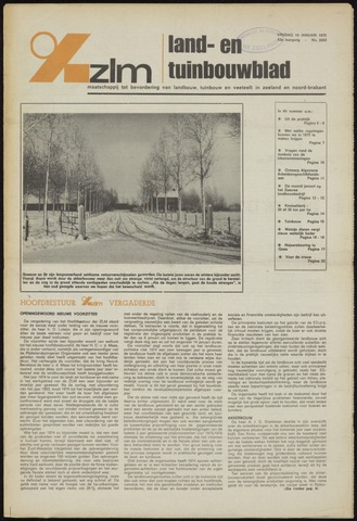Zeeuwsch landbouwblad ... ZLM land- en tuinbouwblad 1975-01-10