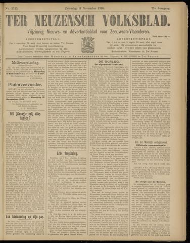 Ter Neuzensch Volksblad. Vrijzinnig nieuws- en advertentieblad voor Zeeuwsch- Vlaanderen / Zeeuwsch Nieuwsblad. Nieuws- en advertentieblad voor Zeeland 1916-11-11