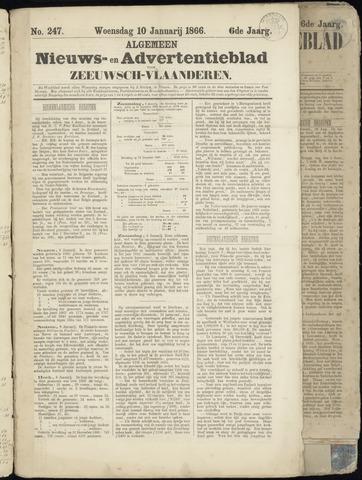 Ter Neuzensche Courant. Algemeen Nieuws- en Advertentieblad voor Zeeuwsch-Vlaanderen / Neuzensche Courant ... (idem) / (Algemeen) nieuws en advertentieblad voor Zeeuwsch-Vlaanderen 1866-01-10