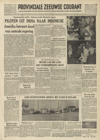 Provinciale Zeeuwse Courant 1958-04-08