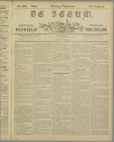 De Zeeuw. Christelijk-historisch nieuwsblad voor Zeeland 1906-09-04