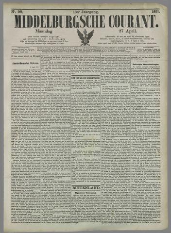 Middelburgsche Courant 1891-04-27