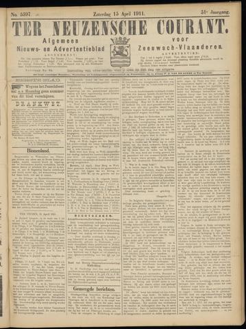 Ter Neuzensche Courant. Algemeen Nieuws- en Advertentieblad voor Zeeuwsch-Vlaanderen / Neuzensche Courant ... (idem) / (Algemeen) nieuws en advertentieblad voor Zeeuwsch-Vlaanderen 1911-04-15