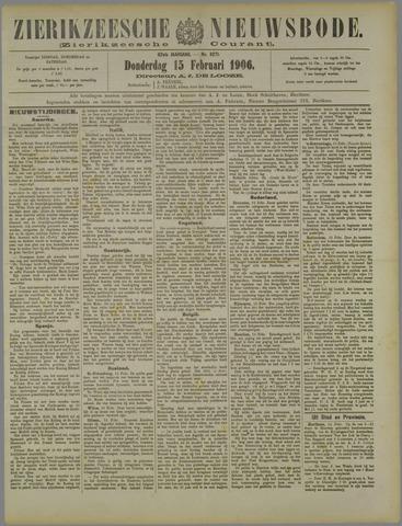 Zierikzeesche Nieuwsbode 1906-02-15