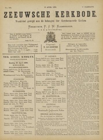 Zeeuwsche kerkbode, weekblad gewijd aan de belangen der gereformeerde kerken/ Zeeuwsch kerkblad 1890-04-19