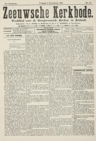 Zeeuwsche kerkbode, weekblad gewijd aan de belangen der gereformeerde kerken/ Zeeuwsch kerkblad 1917-11-09