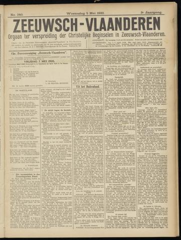 Luctor et Emergo. Antirevolutionair nieuws- en advertentieblad voor Zeeland / Zeeuwsch-Vlaanderen. Orgaan ter verspreiding van de christelijke beginselen in Zeeuwsch-Vlaanderen 1920-05-05