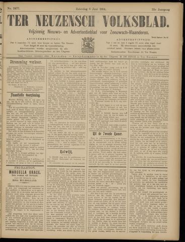 Ter Neuzensch Volksblad. Vrijzinnig nieuws- en advertentieblad voor Zeeuwsch- Vlaanderen / Zeeuwsch Nieuwsblad. Nieuws- en advertentieblad voor Zeeland 1914-06-06