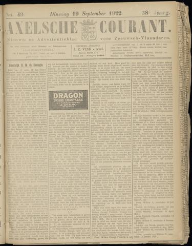Axelsche Courant 1922-09-19