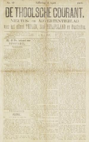 Ierseksche en Thoolsche Courant 1885-04-04
