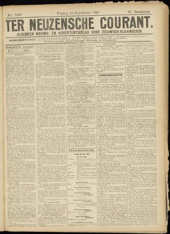 Ter Neuzensche Courant. Algemeen Nieuws- en Advertentieblad voor Zeeuwsch-Vlaanderen / Neuzensche Courant ... (idem) / (Algemeen) nieuws en advertentieblad voor Zeeuwsch-Vlaanderen 1926-09-24