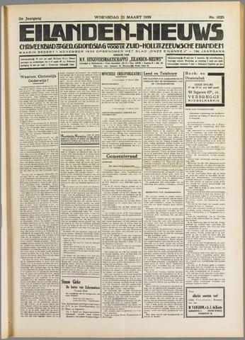 Eilanden-nieuws. Christelijk streekblad op gereformeerde grondslag 1939-03-22