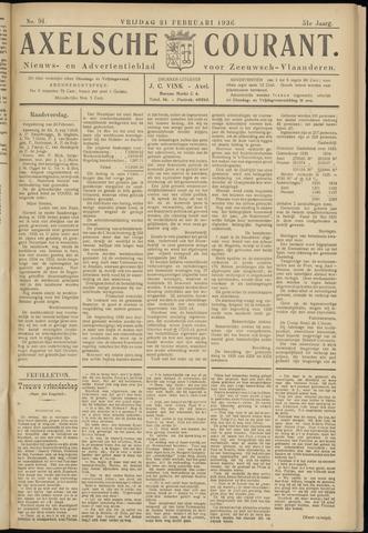 Axelsche Courant 1936-02-21